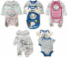 BABY BOYS GIRLS OUTFIT SETS CHARACTER 2PC 3PC SLEEPSUIT BODY VEST BIB BNWT