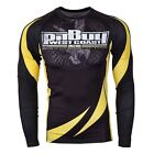 Pit Bull West Coast BJJ Long Sleeve Rashguard MMA GYM Compression Pitbull