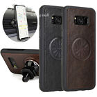 Samsung Galaxy S8 / Plus Shockproof Leather Case With Car Air Vent Holder Mount