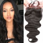 "3.5""x4""  Body Wave Virgin Brazilian Hair 130% Density Lace Closure Natural Hair"