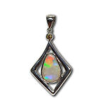 Selection of natural untreated solid opal 100% sterling silver pendants Locket m