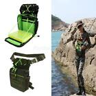 Fishing Tackle Bag Lure Storage Bag Fishing Rod Holder w/ 5 Compartment Box