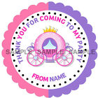 Personalised Princess stickers For Sweet Cones etc, 3 Sizes - Ref MX 09-01
