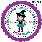 Personalised Halloween stickers For Sweet Cones etc, 3 Sizes - Ref  01-01