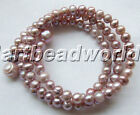 3 strand variation color 6-7mm real natural freshwater pearl steel wire bracelet