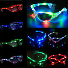 LED Light Up Flashing Shades Blink Glow Glasses Party Festival 4 Colors