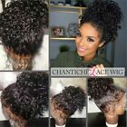 Curly Lace Front Wigs Brazilian Remy Full Lace Human Hair Wigs for Black Women