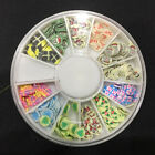 3D Wheel Cartoon Nail Art Stickers Fimo Polymer Acrylic Slices DIY Decoration