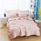 Wash Cotton throws solid color air conditioning quilt Summer cool blankets sheet