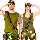 Army Adults Costume Military Sergeant Wartime Camouflage Combat Soldier Costumes