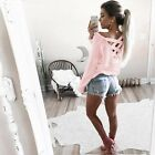 Womens Off Shoulder Long Sleeve Shirt Fashion Ladies Summer Casual Blouse Top