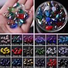 NEW 10/30pcs 10mm Teardrop Crystal Glass Faceted Loose Spacer Beads Lot Jewelry