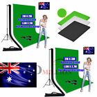 Photography Studio 3 Backdrops Lighting Non-Woven Background Support Stand Kit