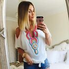 WOMENS LADIES CELEBRITY INSPIRED BEADED BEADED COLD SHOULDER TOP SHIRT BLOUSE