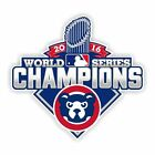Chicago Cubs World Series  Champions 2016  Decal / Sticker Die cut on Ebay