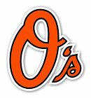 "Baltimore Orioles ""O's"" Decal / Sticker Die cut"