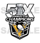 Pittsburgh Penguins 5 Times Stanley Cup Champions  Die Cut Decal $4.49 USD on eBay