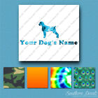 Custom German Wirehaired Pointer Name Decal Sticker - 25 Printed Fills - 6 Fonts