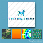 Custom Miniature Bull Terrier Dog Name Decal Sticker - 25 Printed Fills  6 Fonts