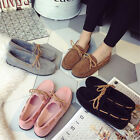 Womens  Ladies Driving Loafers Slip on Bow Casual Flat Boat Shoes