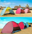 Automatic Pop Up Beach Tent Sun Shelter Cabana 3-4 Person UV Protection Canopy