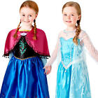 Deluxe Frozen Girls Fancy Dress Disney Princess Fairytale Book Day Kids Costumes