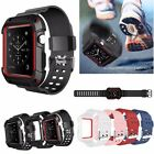 Rugged Protective Case Cover with Wrist Band Straps For Apple Watch Series 3/2/1 image