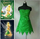 Tinker Bell Cosplay Tinkerbell Dress Green Fairy Pixie cosplay :KWF22