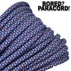 Chocolate Brown Baby Blue Diamonds 550 Paracord 7 Strand - 10ft 25ft 50ft 100ft