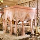 Bed Nets bed curtain set Luxury metal steel frame 4 corner canopy Mosquito net image