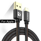 Floveme Charger Cable For Lightning Leather Buckle Cable For Iphone 7 6 Plus 5s