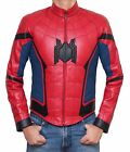 New Spider-Man Homecoming Civil War Logo Peter Parker Halloween Leather Jacket