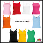 Fruit of the Loom Womens Vest Top Tank Top Cotton Strap Vest