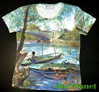 VINCENT VAN GOGH Fishing in the Spring T SHIRT FINE MODERN ART PRINT PAINTING