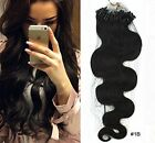 Brazilian Body Wave  Remy Loop Micro Ring Bead Human Hair Extensions 100g/100s
