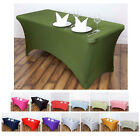 Внешний вид - 6 Ft Rectangular Spandex Table Cover For Wedding Party Banquet Events Decoration