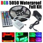 5M RGB 5050 Waterproof  300 LED Strip light SMD 44 Key Remote 12V Power Full Kit