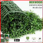 Artificial Boxwood Hedge Fake Vertical Garden Green Wall Ivy Mat Fence 60x40cm