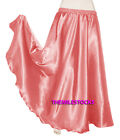Salmon TMS Satin Half Circle Skirt Belly Dance Maxi 4 5 Yard 30Color Instock