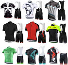 Cycling Clothing Sets Jersey & Shorts Sets Short Sleeve Polyester Men Sports