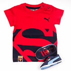 Puma Suede Infant Baby Toddler Superman Crib Trainer T-Shirt Pack