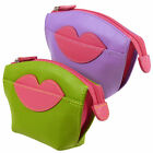 New Ladies Zipped Leather Coin Purse Hot Lips ili New York Amethyst Hot Pink