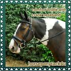 LEATHER COMFORT BRIDLE WITH RUBBER REINS PONY COB FULL OR EXTRA FULL SIZES