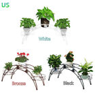 Внешний вид - 3 Tier Arch Metal Potted plant Stand with 3 holders Potted Plant Rack Organizer