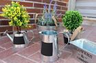 Watering Cans Zinc Metal With Chalk Board Home Garden Plant Pot Indoor Outdoor