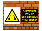 1010 Ear protectors sign weatherproof Aluminium Plaque PVC or Vinyl Sticker