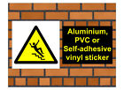 1031 Stairs sign weatherproof Aluminium Plaque PVC or Vinyl Sticker