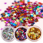 Laser Star Nail Sequins Glitters Sparkle Paillette Colorful Gold Silver Stickers