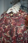 Paisley Top Red Blue 1960s Retro Long Sleeve Tunic Turtle Neck Mod 8 10 12 14