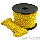 "US STOCK 500lb Double Braid Parachute Cord 1/8"" Survival Paracord Lanyard Yellow"